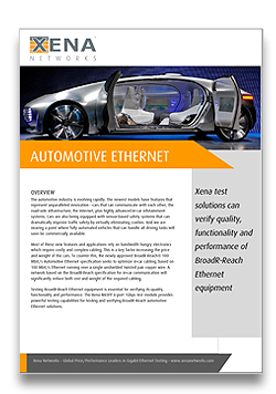Xena Automotive Ethernet White Paper