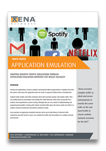 Xena Application Emulation White Paper